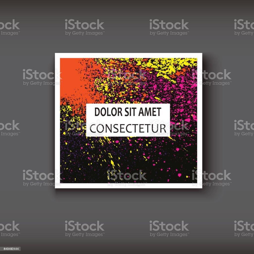 Neon Aquarell Explosion Form Künstlerischer Umfasst Design Dekorativer Textur Farbe Flüssigkeit Farben Dunkle Hintergründe Trendige