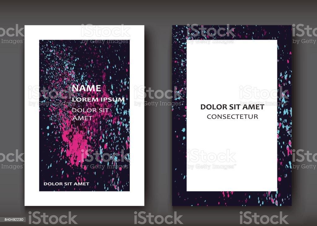 Neon Aquarell Explosion Form Künstlerischen Decken Design