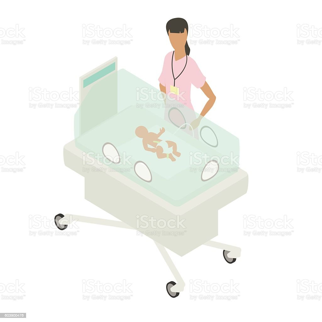 NICU neonatal intensive care unit illustration vector art illustration