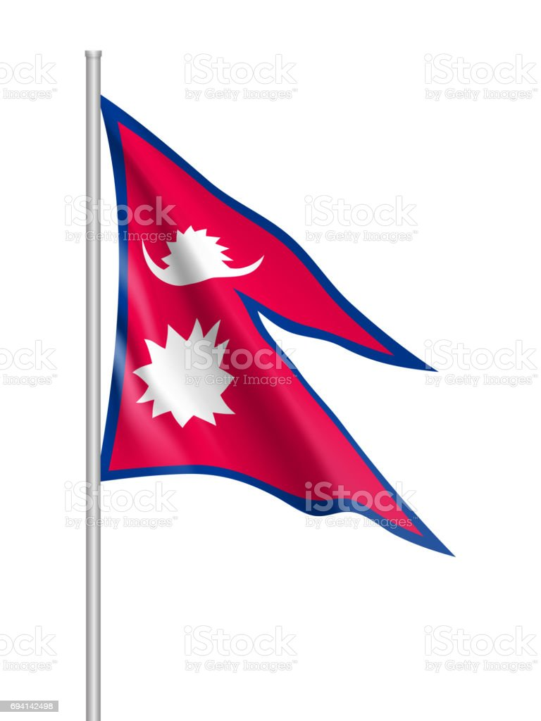 Nepal Flag Vector Flat Style Stock Vector Art & More Images of Arts ...