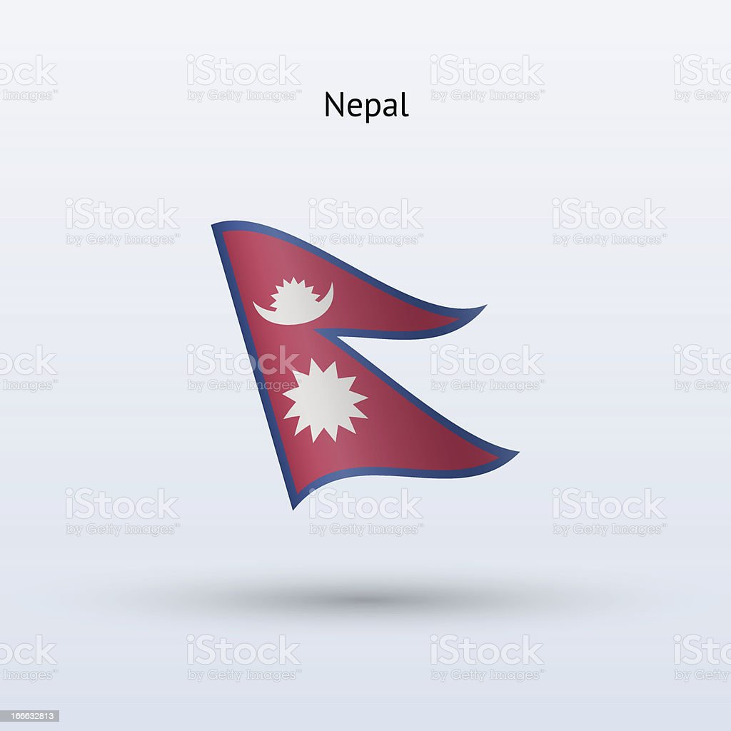 Nepal Flag royalty-free nepal flag stock vector art & more images of clip art