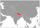 World map on gray base