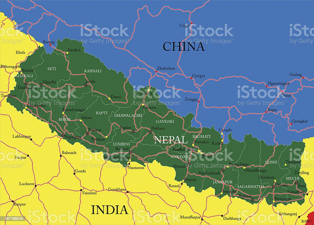 Nepal map royalty-free nepal map stock vector art & more images of abstract