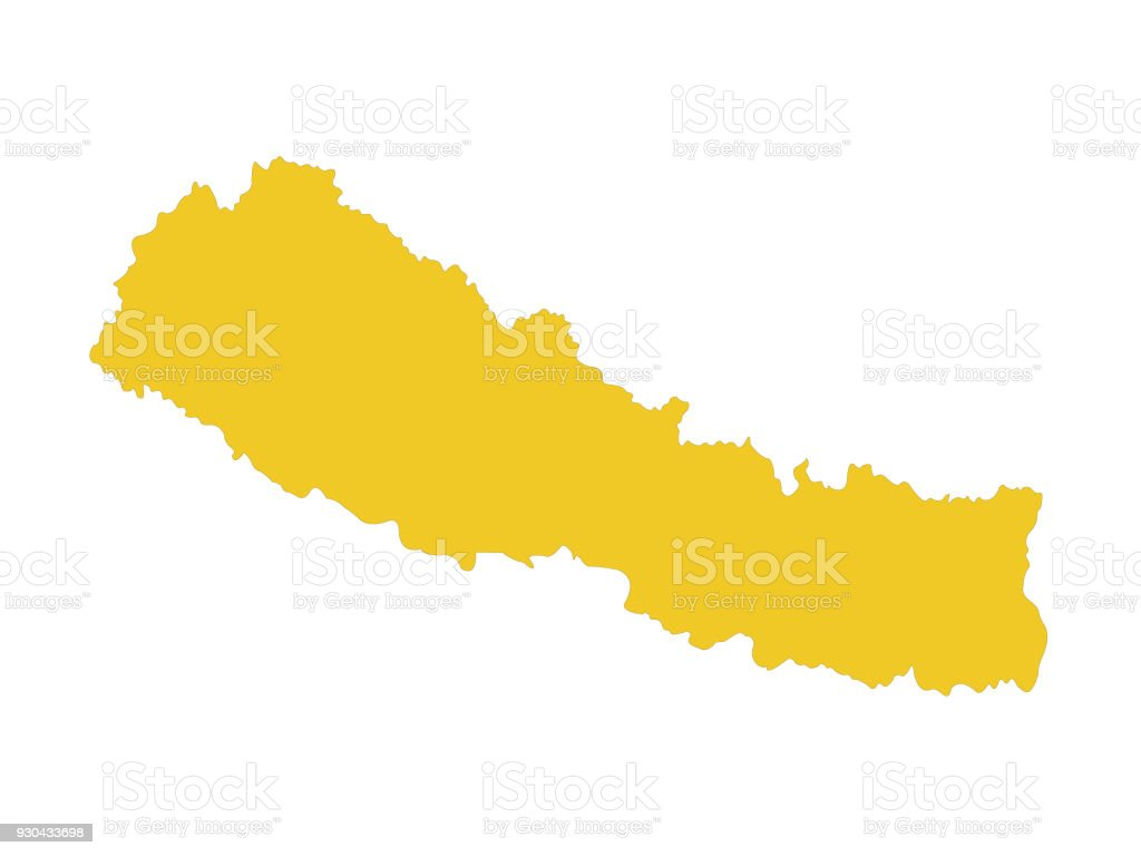 Nepal Map Stock Vector Art & More Images of Asia 930433698 | iStock