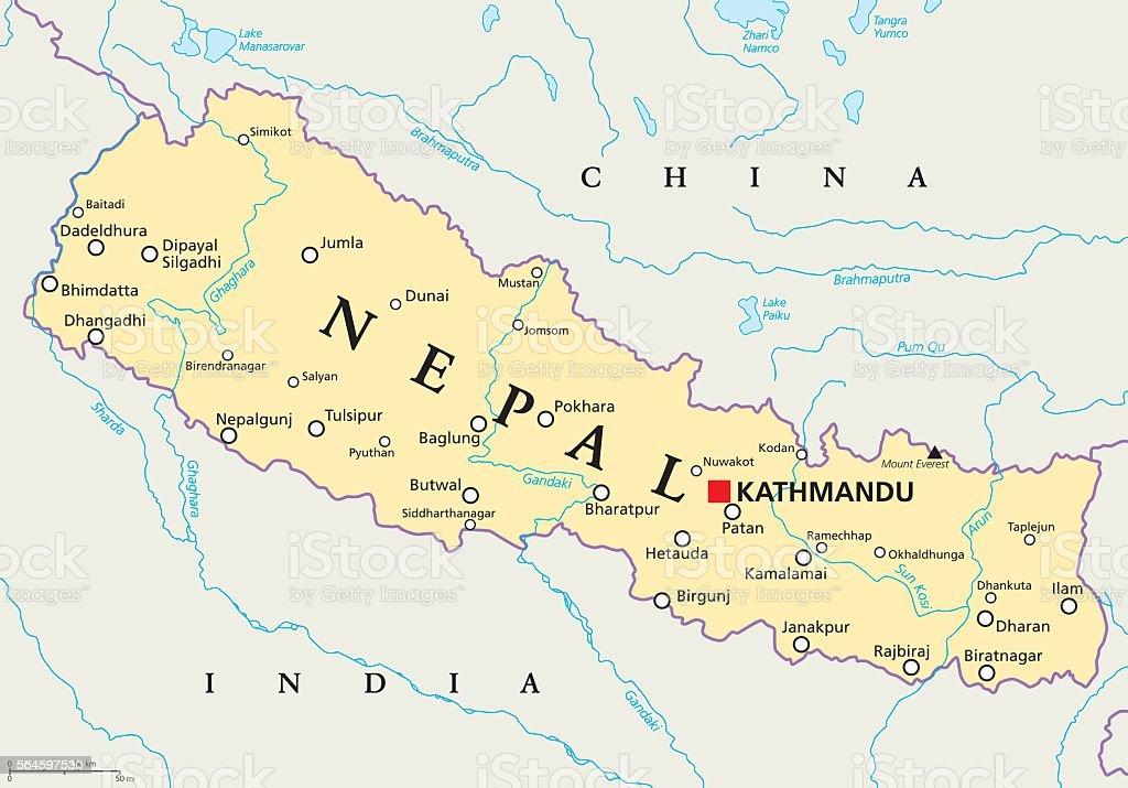 Nepal Political Map nepal political map vecteurs libres de droits et plus d'images vectorielles de asie libre de droits