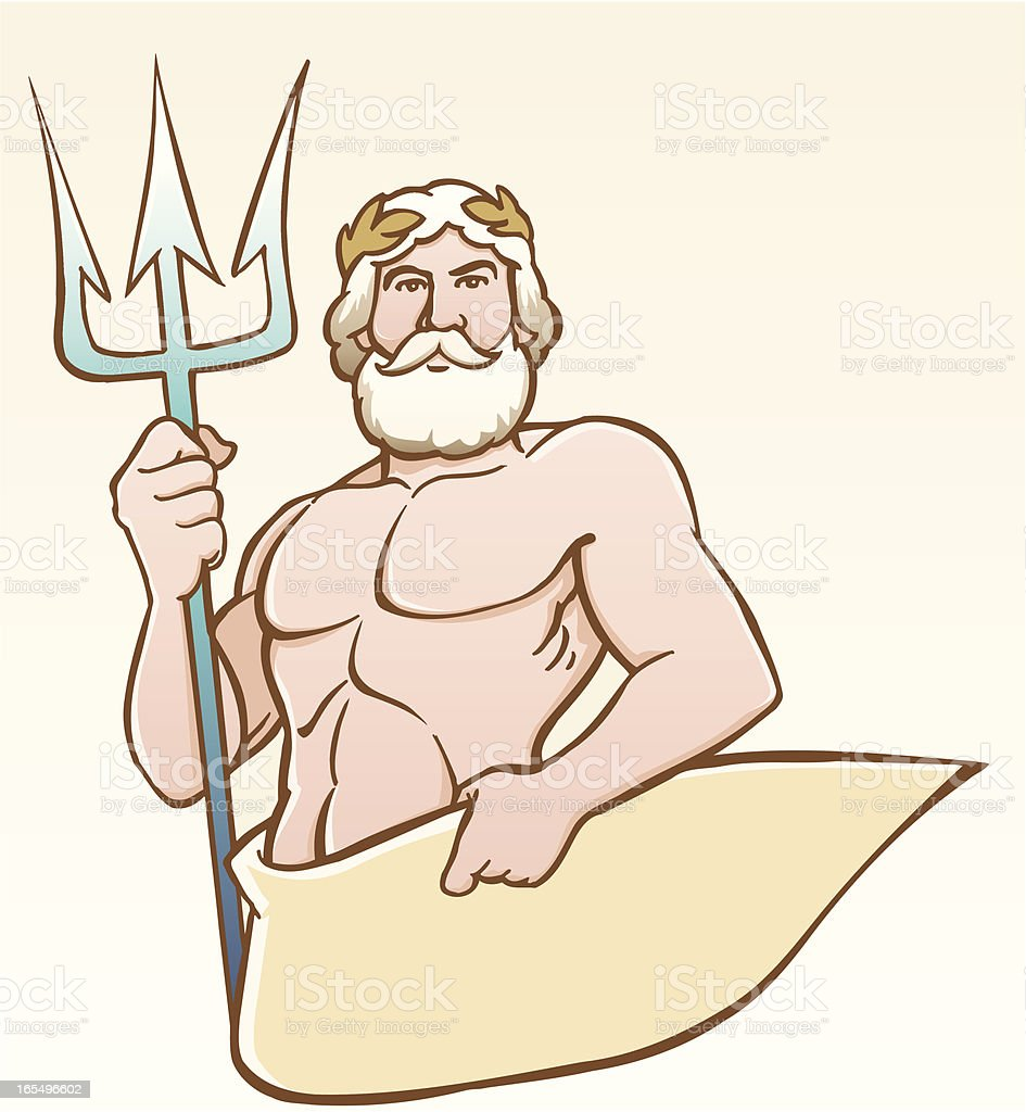 Neptun royalty-free stock vector art