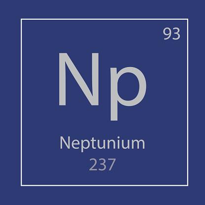 Neptunium Np chemical element icon