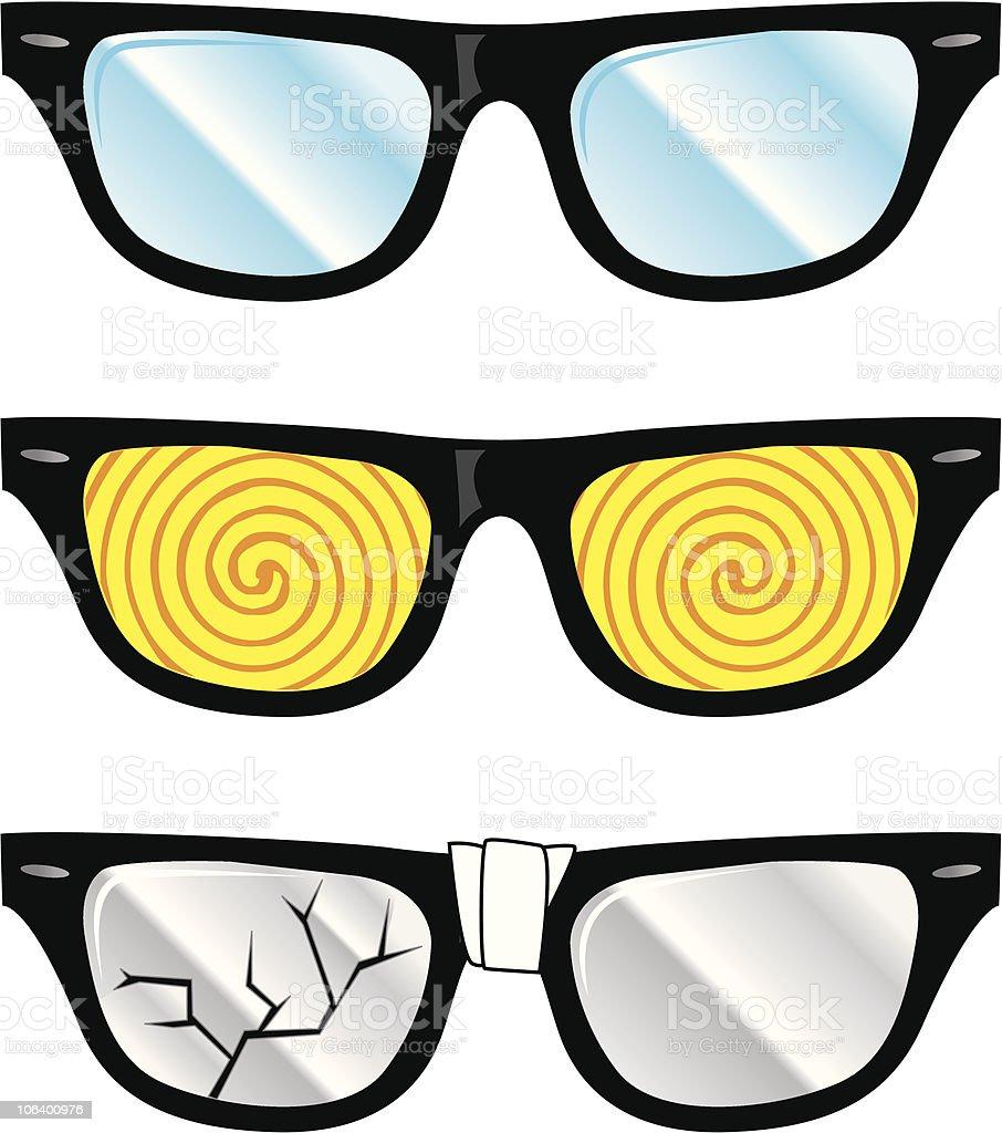 nerd glasses royalty-free stock vector art