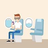 Nerd on the plane