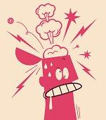 Vector illustration – Nervous Breakdown.