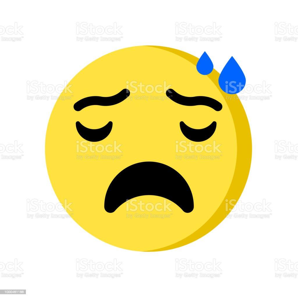 Nervous Emoji Icon Isolated On White Background Stock Illustration