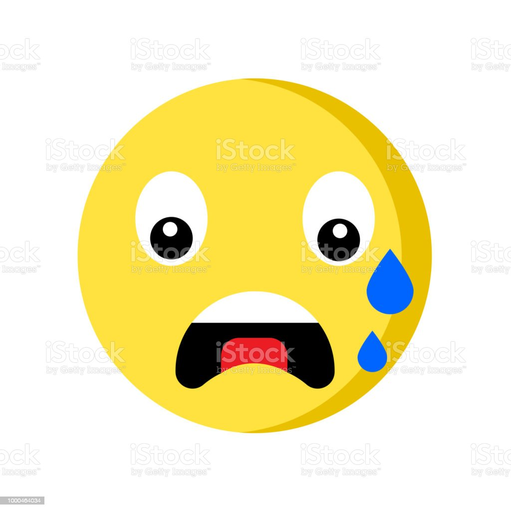 Nervous Emoji Icon Isolated On White Background Stock