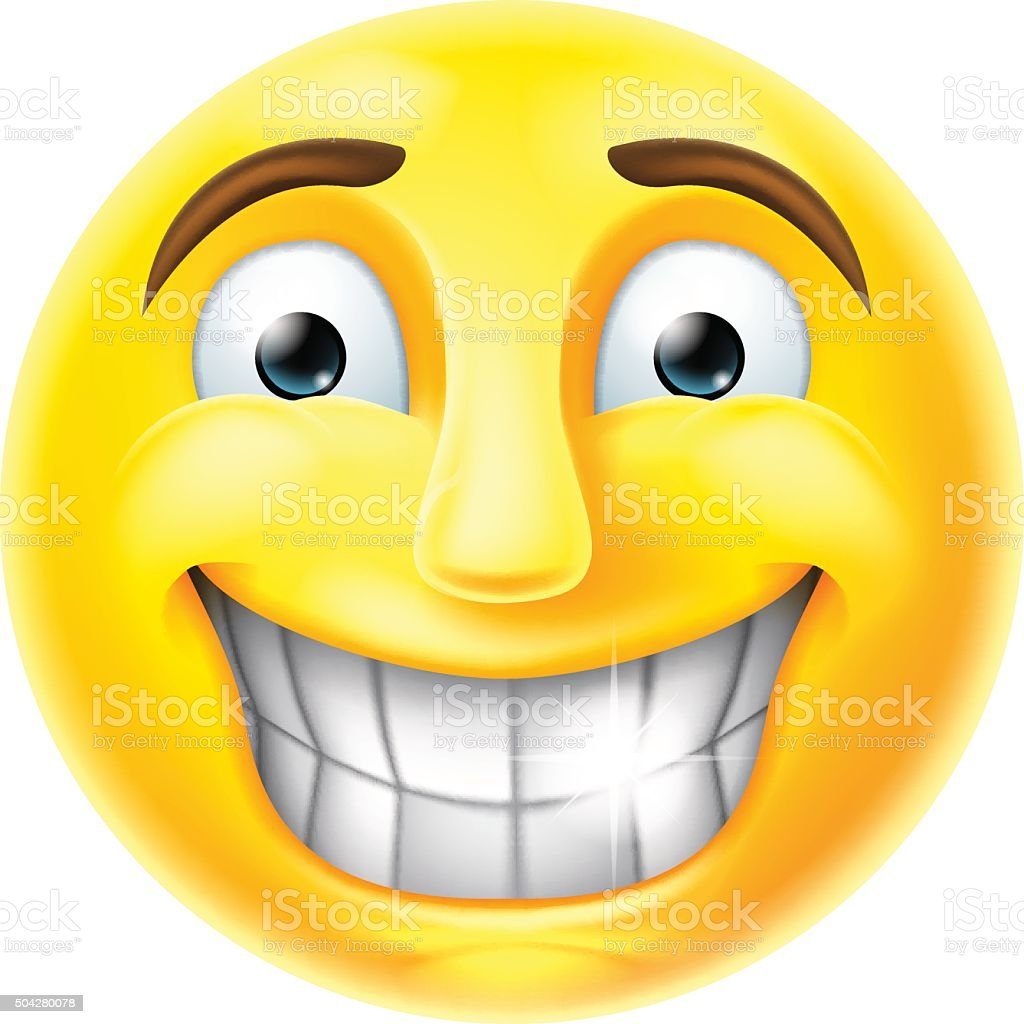 Nervous Smile Emoji Emoticon vector art illustration