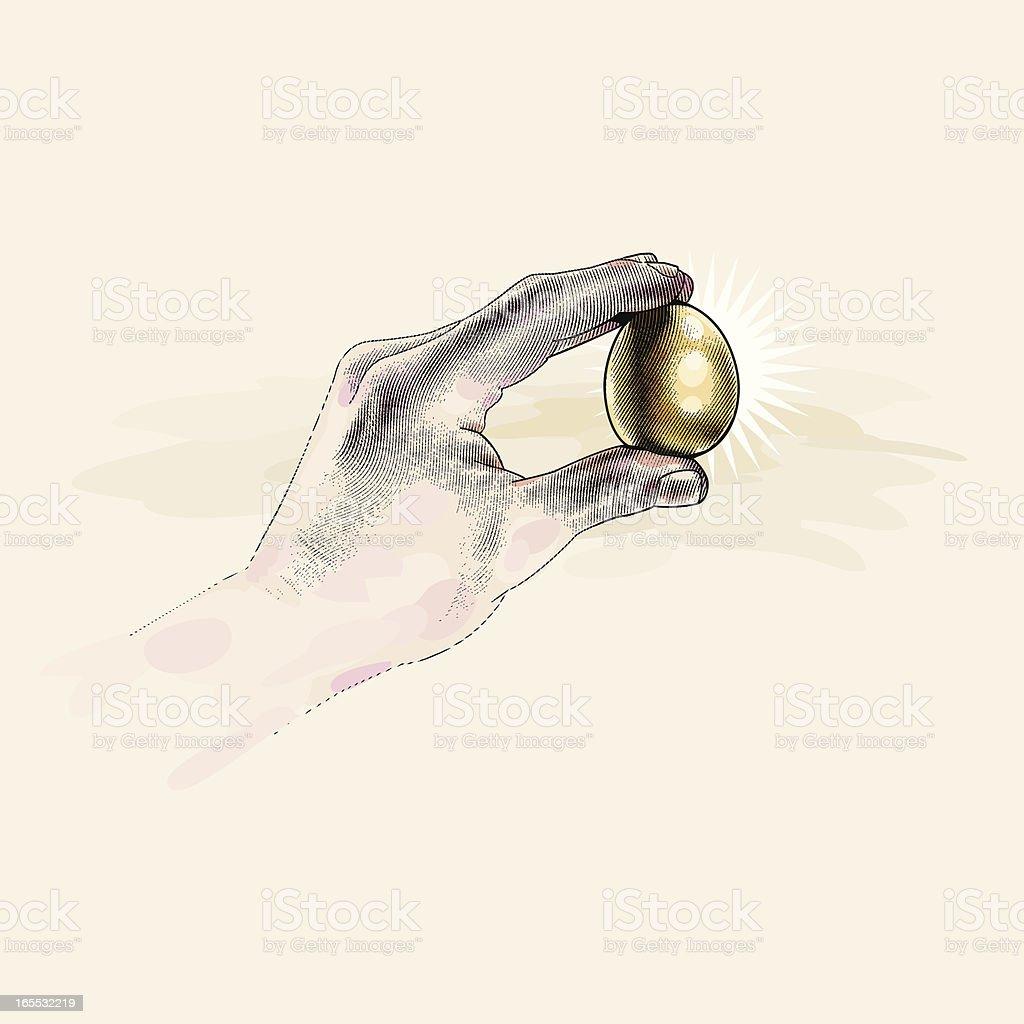 Nest Egg royalty-free stock vector art