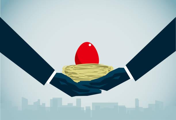 nest egg commercial illustrator nest egg stock illustrations