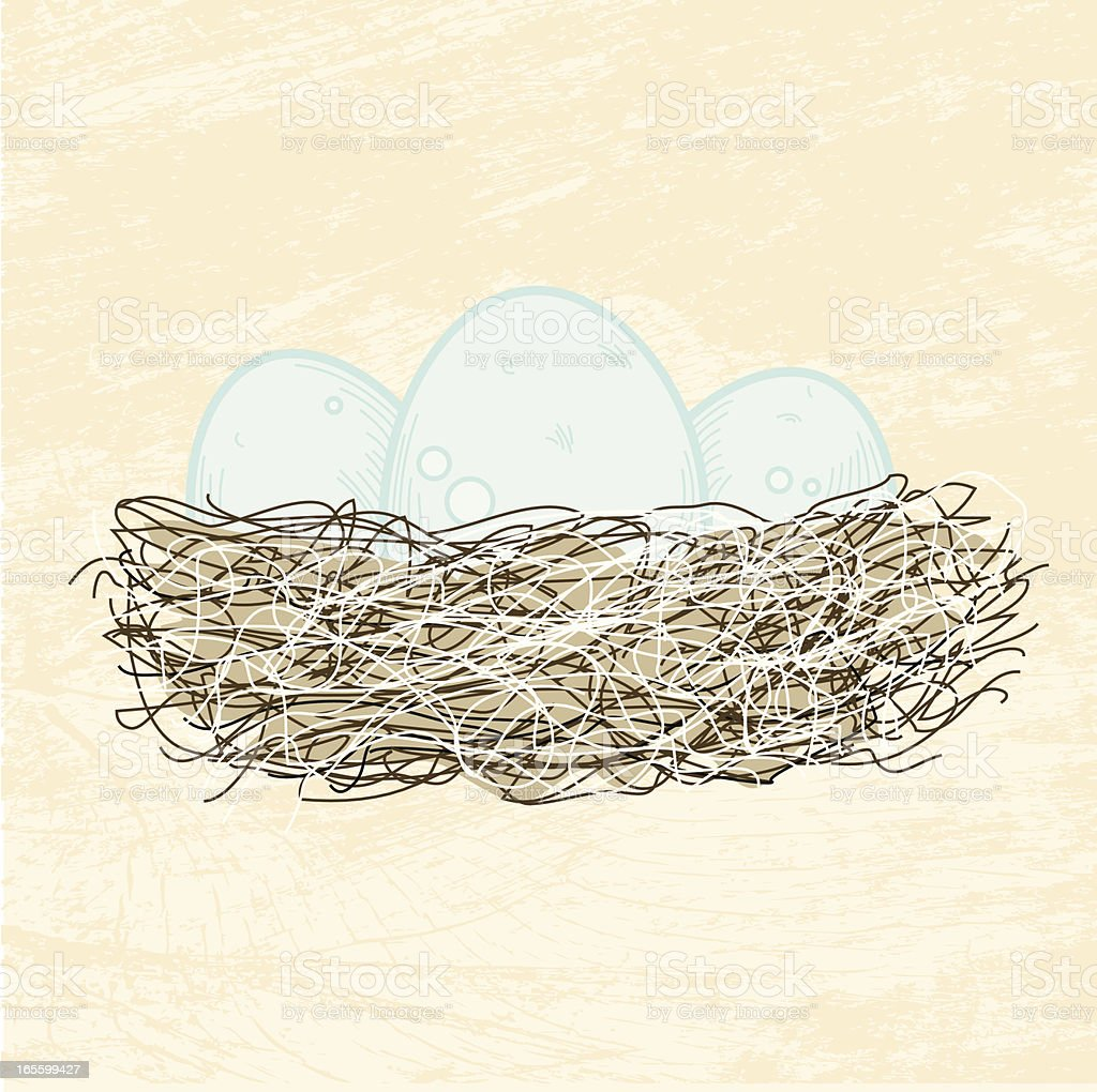 Nest Eggs royalty-free stock vector art