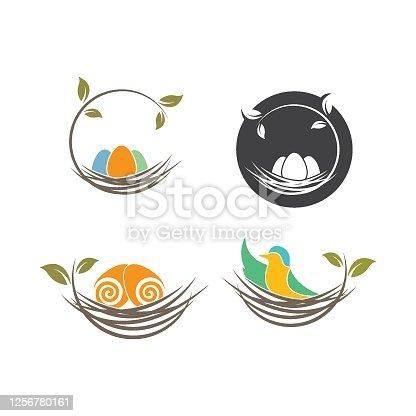 istock nest icon vector illustration design 1256780161