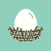 istock Nest With Egg 484403717