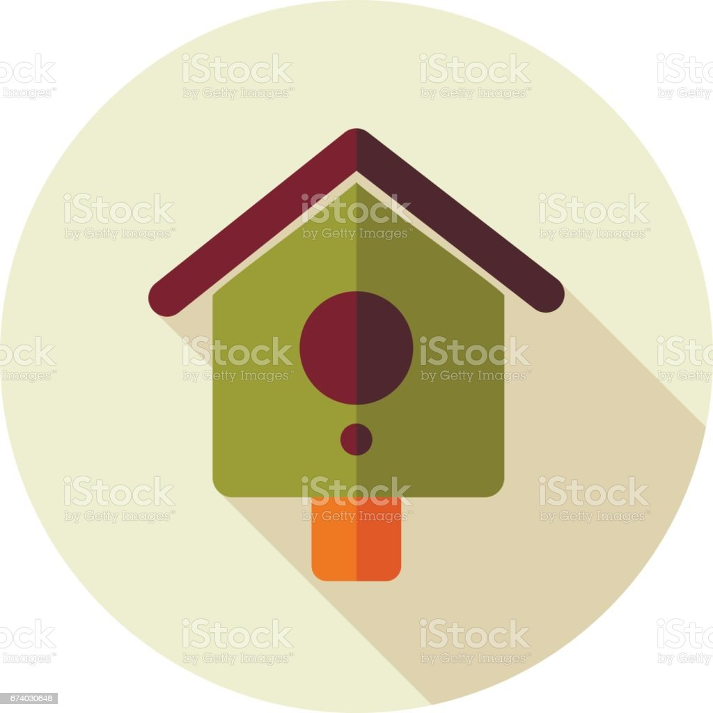 Nesting box, bird-house flat vector icon royalty-free nesting box birdhouse flat vector icon stock vector art & more images of animal