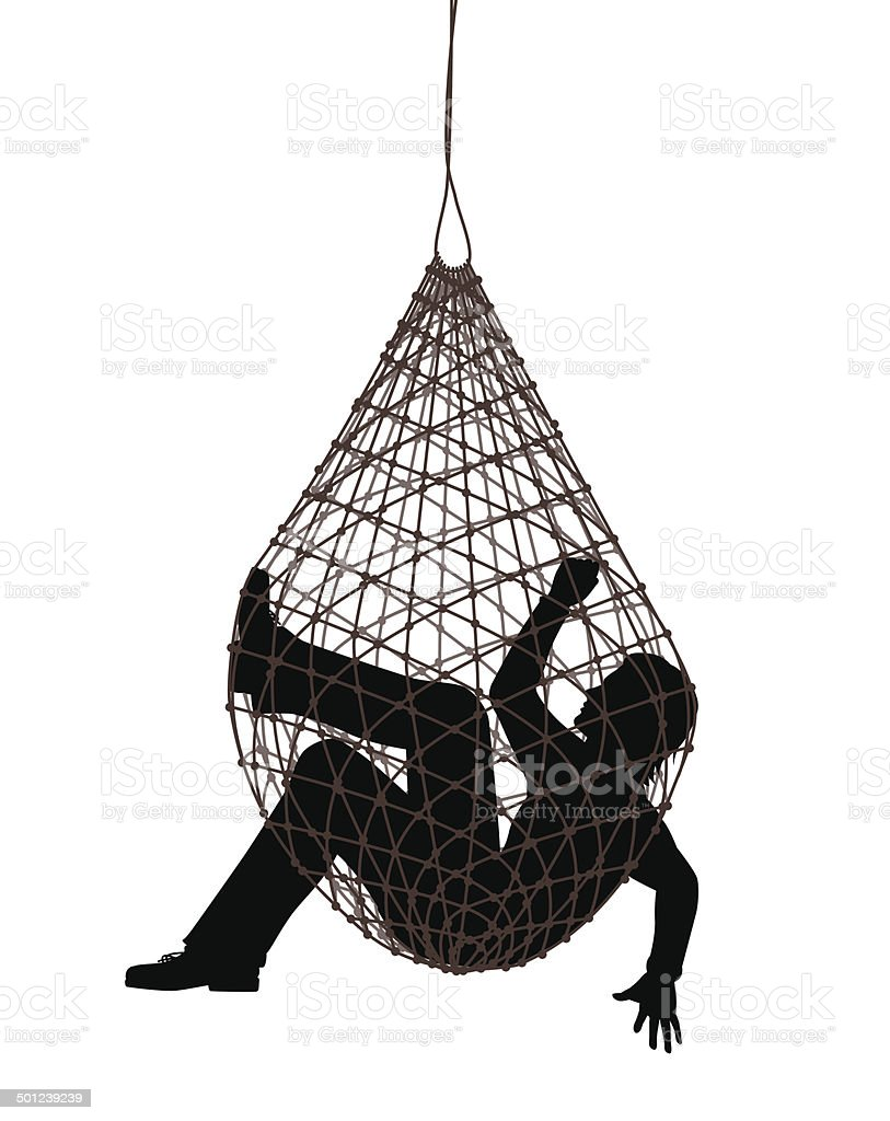 Net trap vector art illustration
