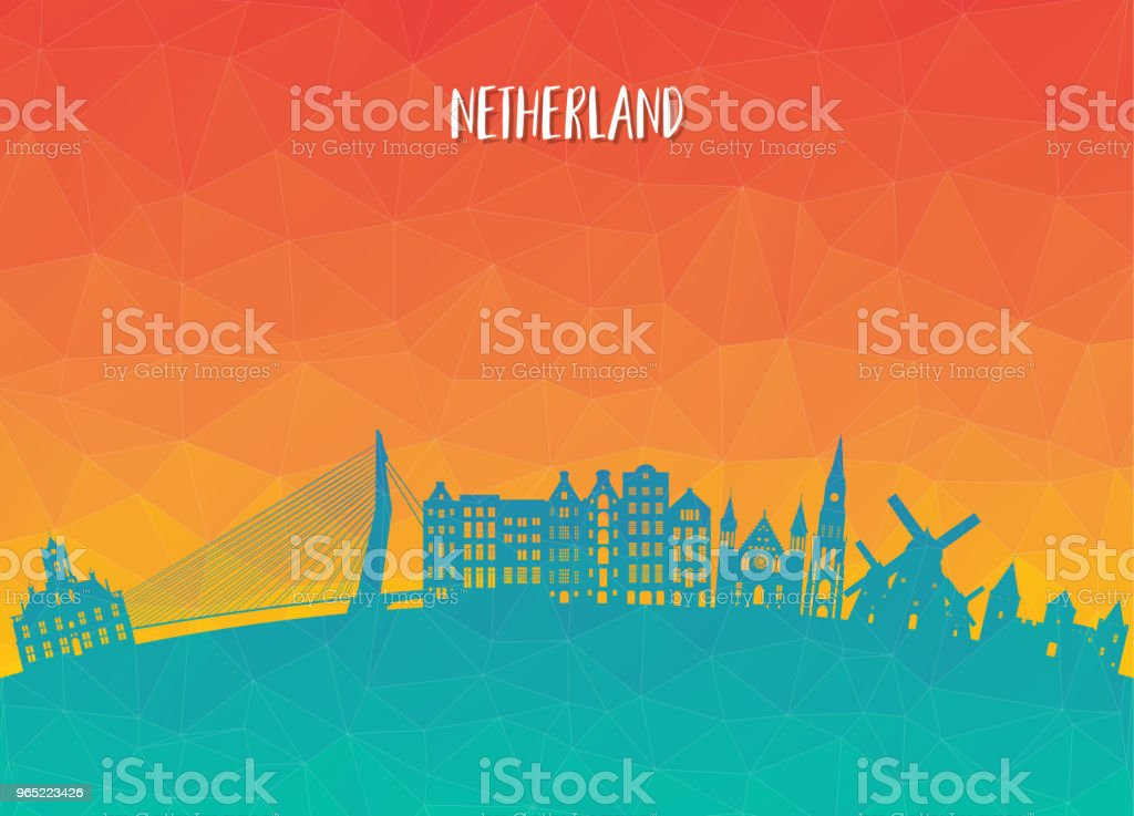 Netherland Landmark Global Travel And Journey paper background. Vector Design Template.used for your advertisement, book, banner, template, travel business or presentation. netherland landmark global travel and journey paper background vector design templateused for your advertisement book banner template travel business or presentation - stockowe grafiki wektorowe i więcej obrazów amsterdam royalty-free