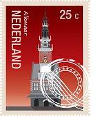 Vector Netherland Stamp