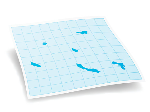 Netherlands Antilles Map isolated on white Background