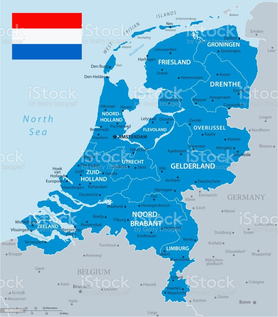 33 Netherlands Blue Gray 10 Stock Vector Art & More Images of ...