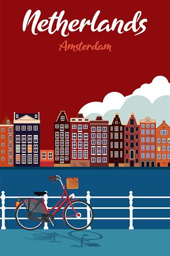 Netherlands cartoon map