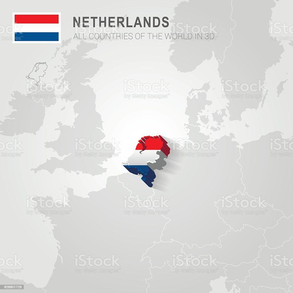 Carte De Leurope Pays Bas.Paysbas Administration Carte De Leurope Vecteurs Libres De