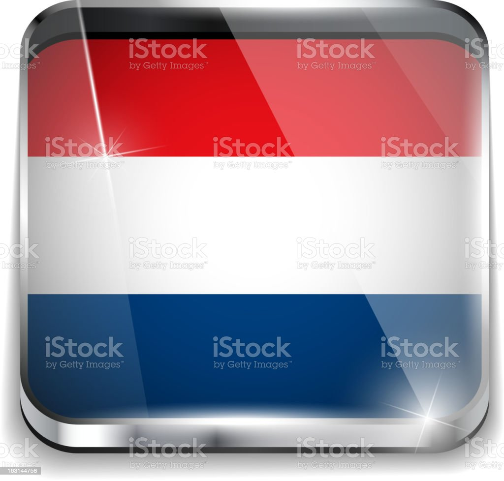 Netherlands Flag Smartphone Application Square Buttons royalty-free netherlands flag smartphone application square buttons stock vector art & more images of backgrounds