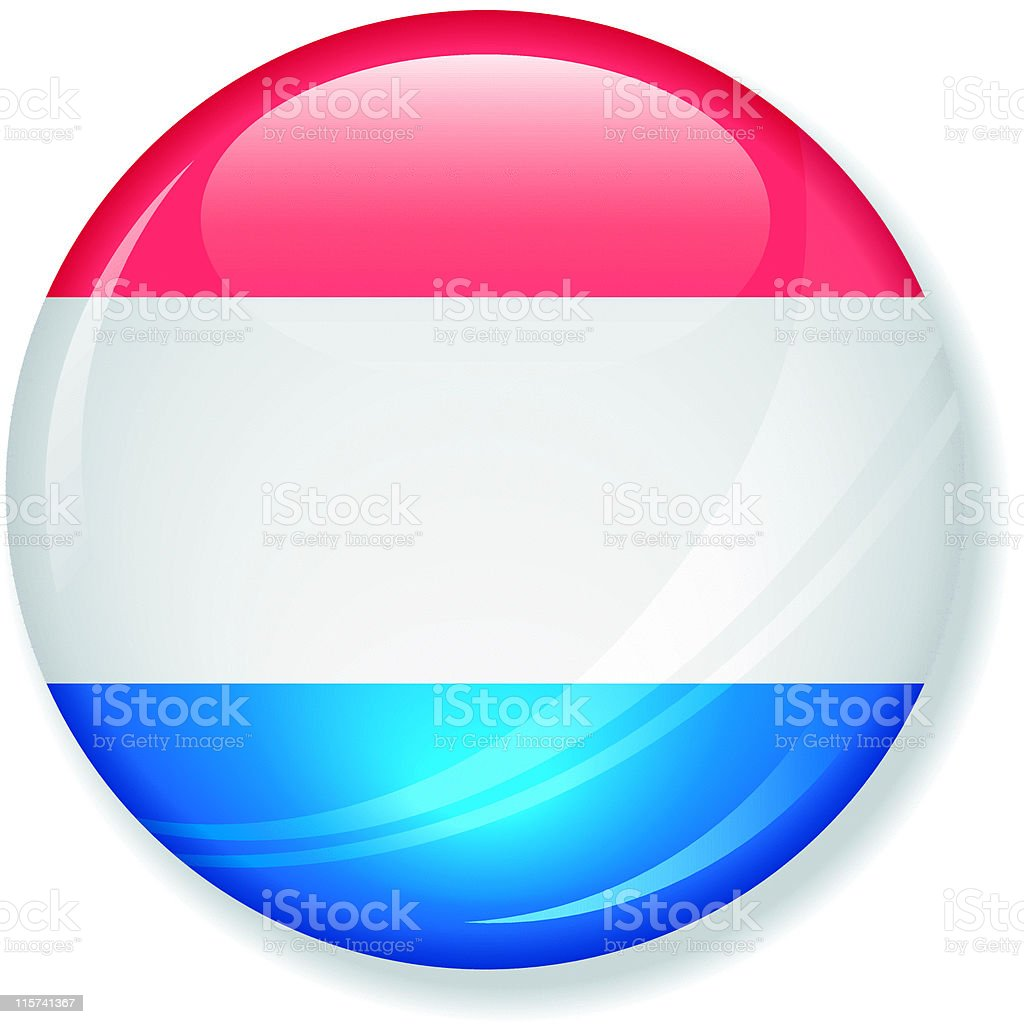 Netherlands Flag Super Glossy Button royalty-free stock vector art