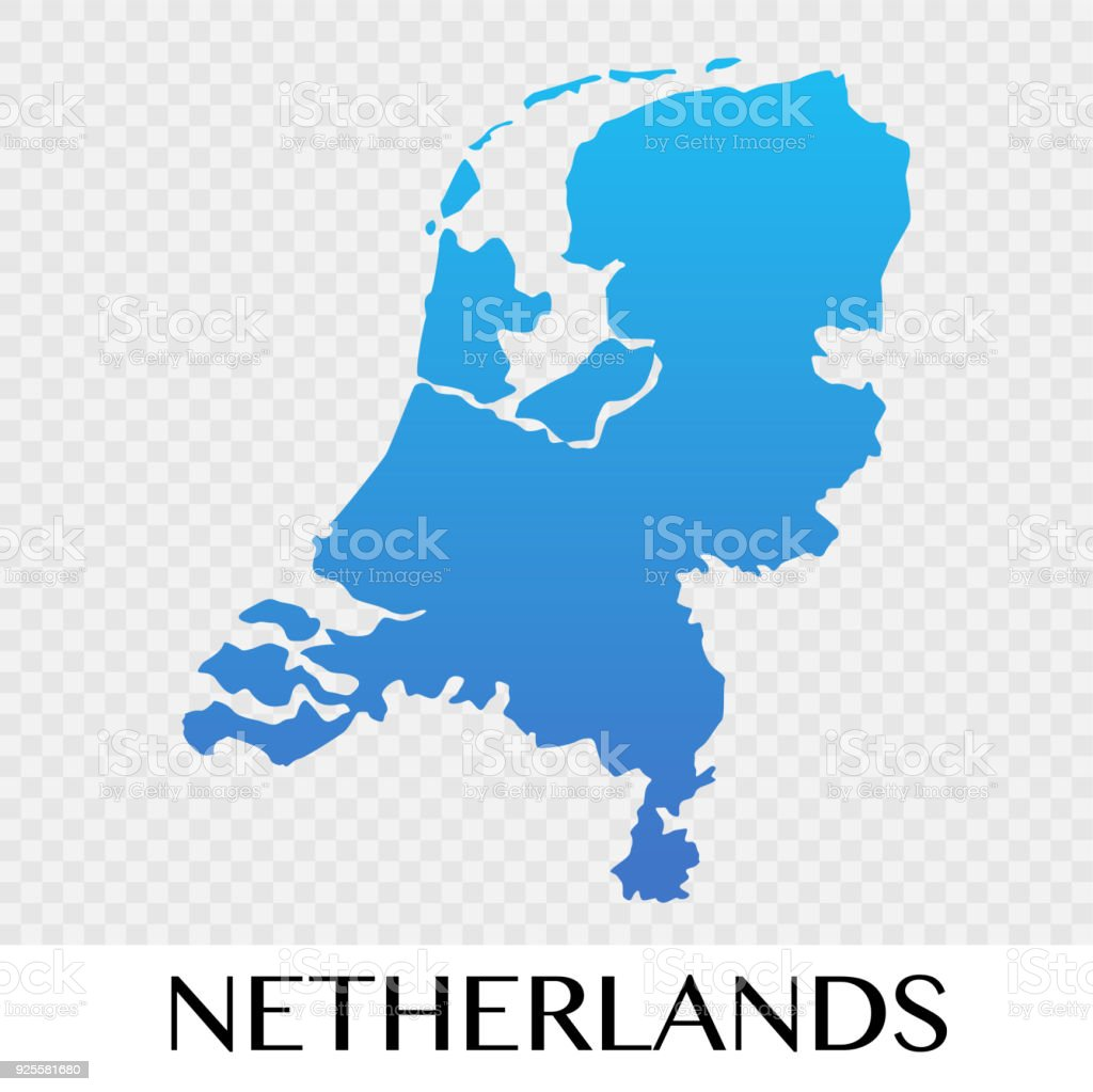 netherlands map in europe continent illustration design royalty free netherlands map in europe continent illustration