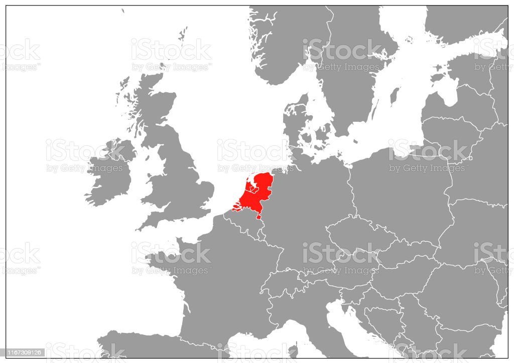 Image of: Netherlands Map On Gray Base Stock Illustration Download Image Now Istock