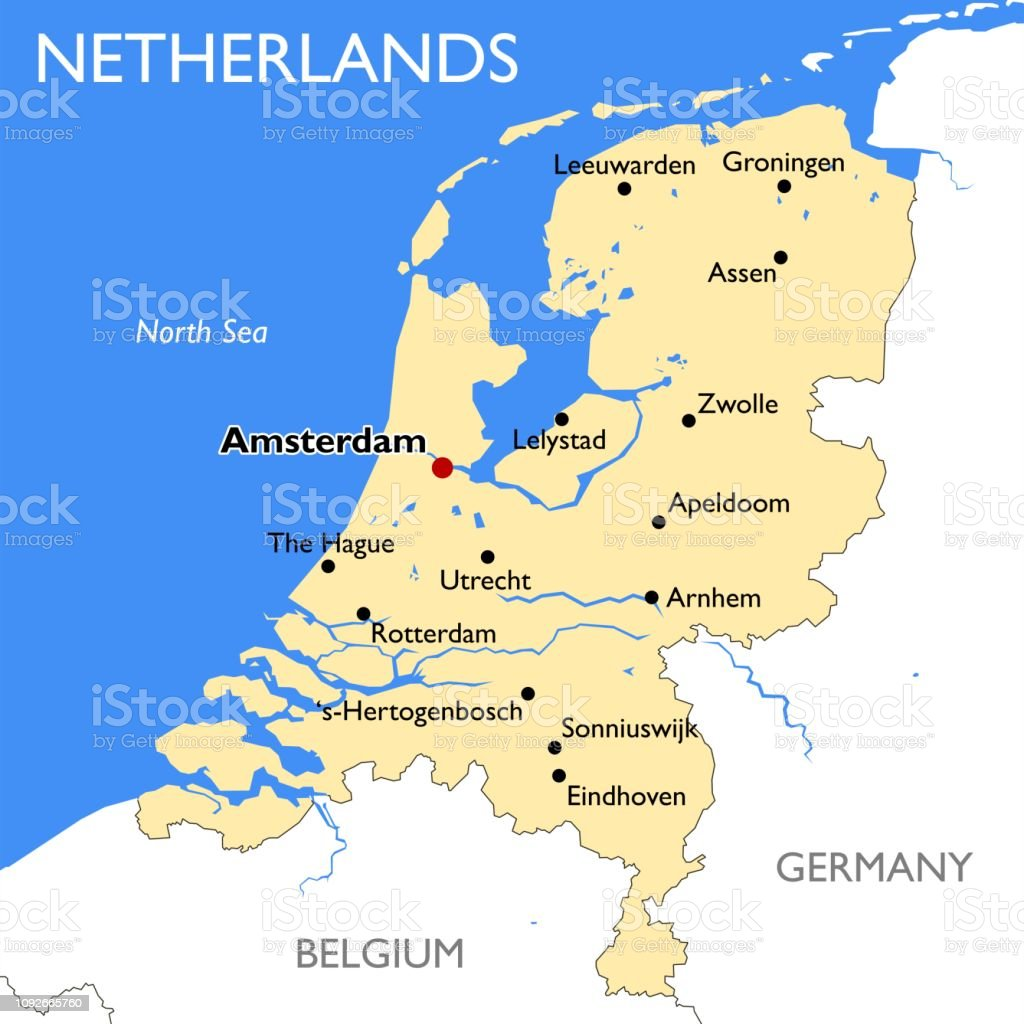 Netherlands Map Stock Illustration - Download Image Now - iStock