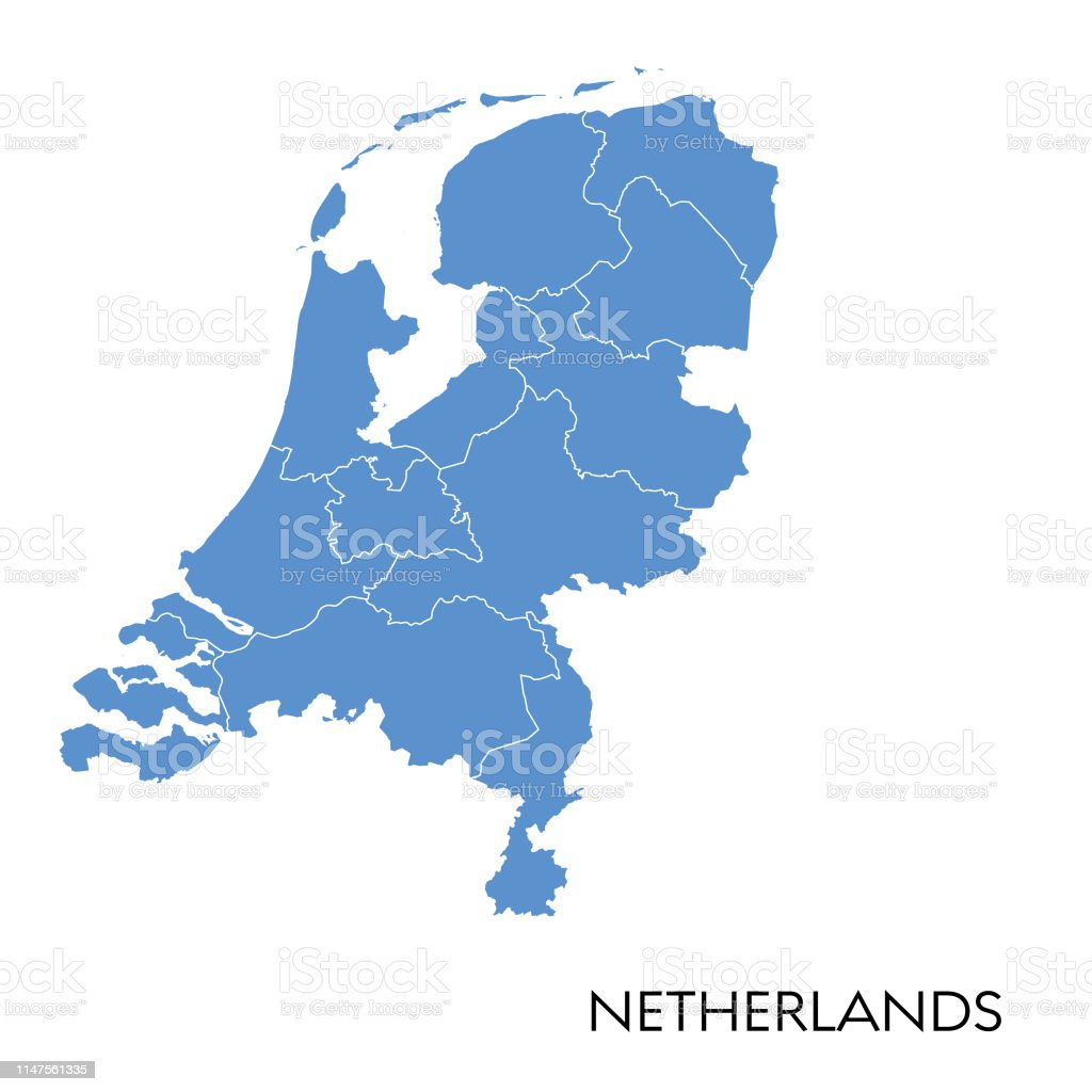 Hollanda Haritası - Royalty-free Antika Vector Art