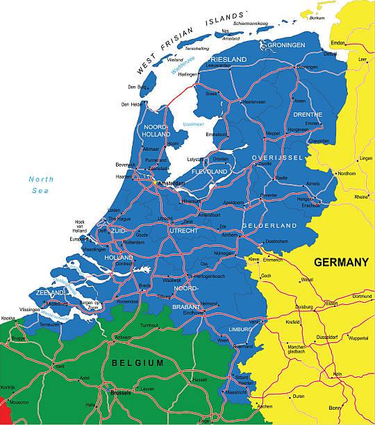 stockillustraties, clipart, cartoons en iconen met netherlands map - eindhoven