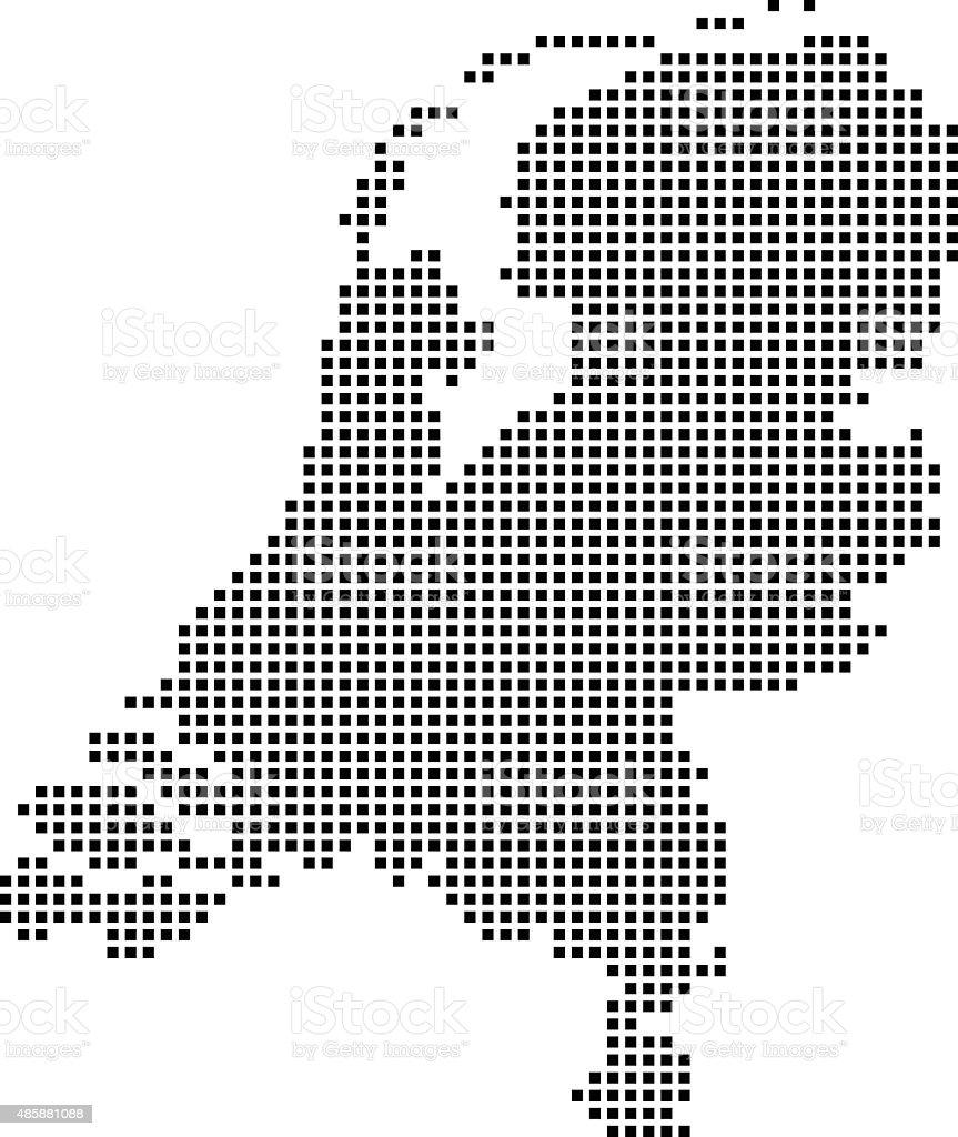 Netherlands map vector art illustration