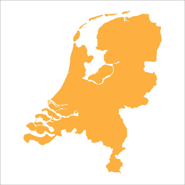 Netherlands map vector art illustration