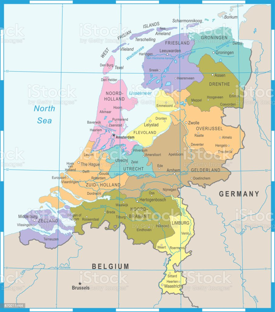 Netherlands Map Vector Illustration Stock Vector Art & More Images ...
