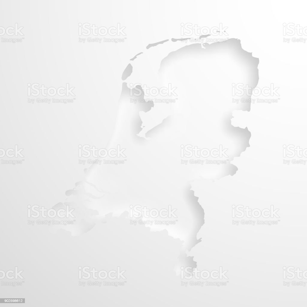 San Francisco Map Paper%0A Netherlands Map Black And White Netherlands map with embossed paper effect  on blank background royaltyfree stock