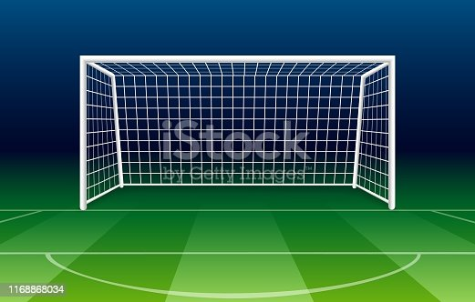 istock Netting soccer gate 1168868034