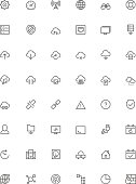 Network and cloud services icon set