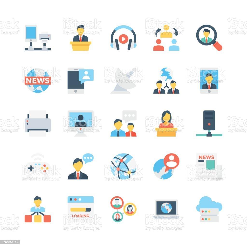 Réseau et Communications Vector Icons 6 - Illustration vectorielle