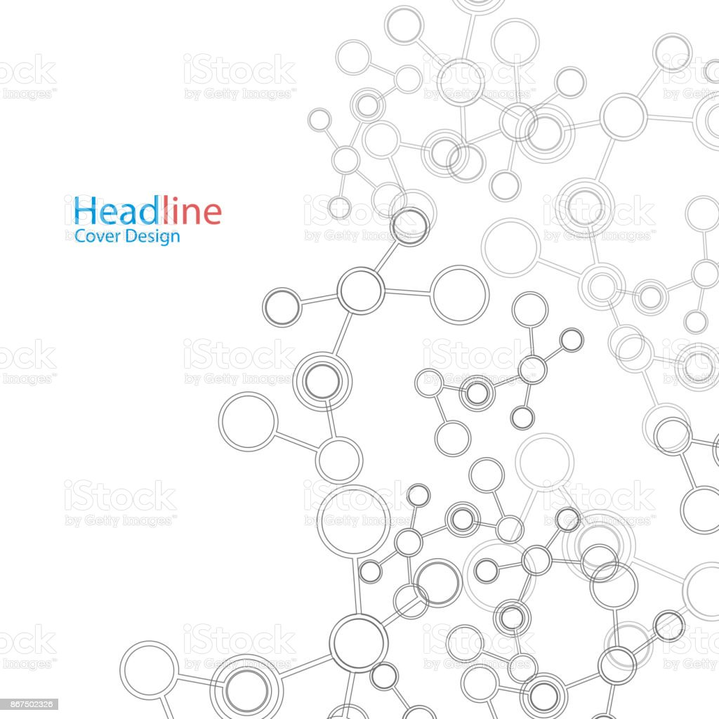 Network And Connection Background. Minimal Molecule Background vector art illustration