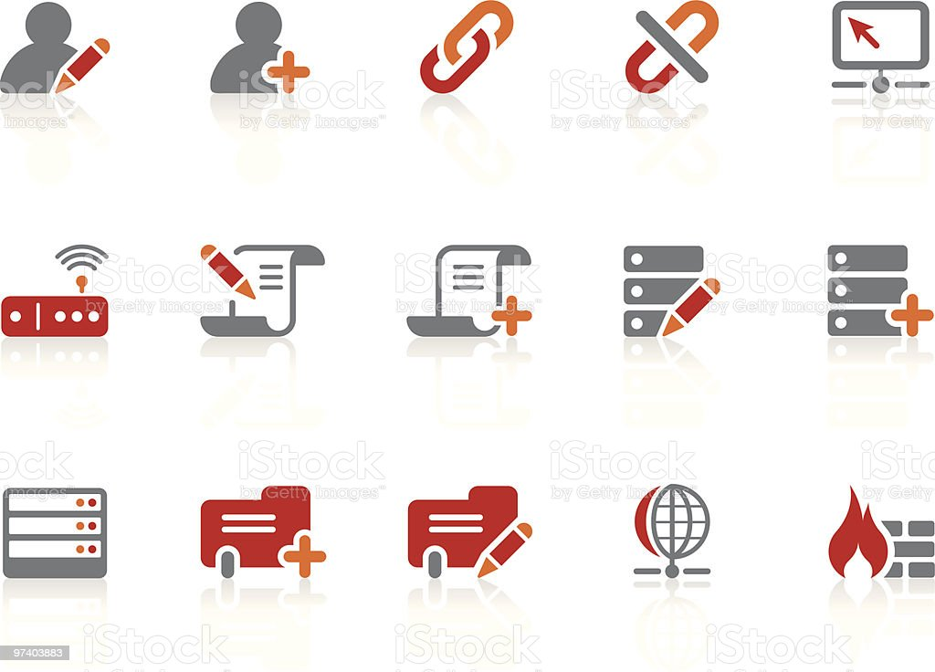 Network and Database icons   Alto series royalty-free stock vector art