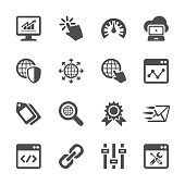 network and search engine optimization icon set, vector eps10..