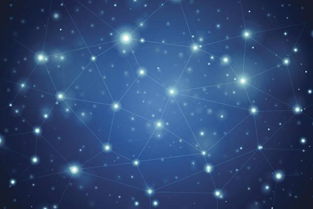 ilustrações de stock, clip art, desenhos animados e ícones de fundo de rede - mapa das estrelas