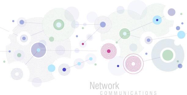 ネットワークブルー - ネットワーク点のイラスト素材/クリップアート素材/マンガ素材/アイコン素材