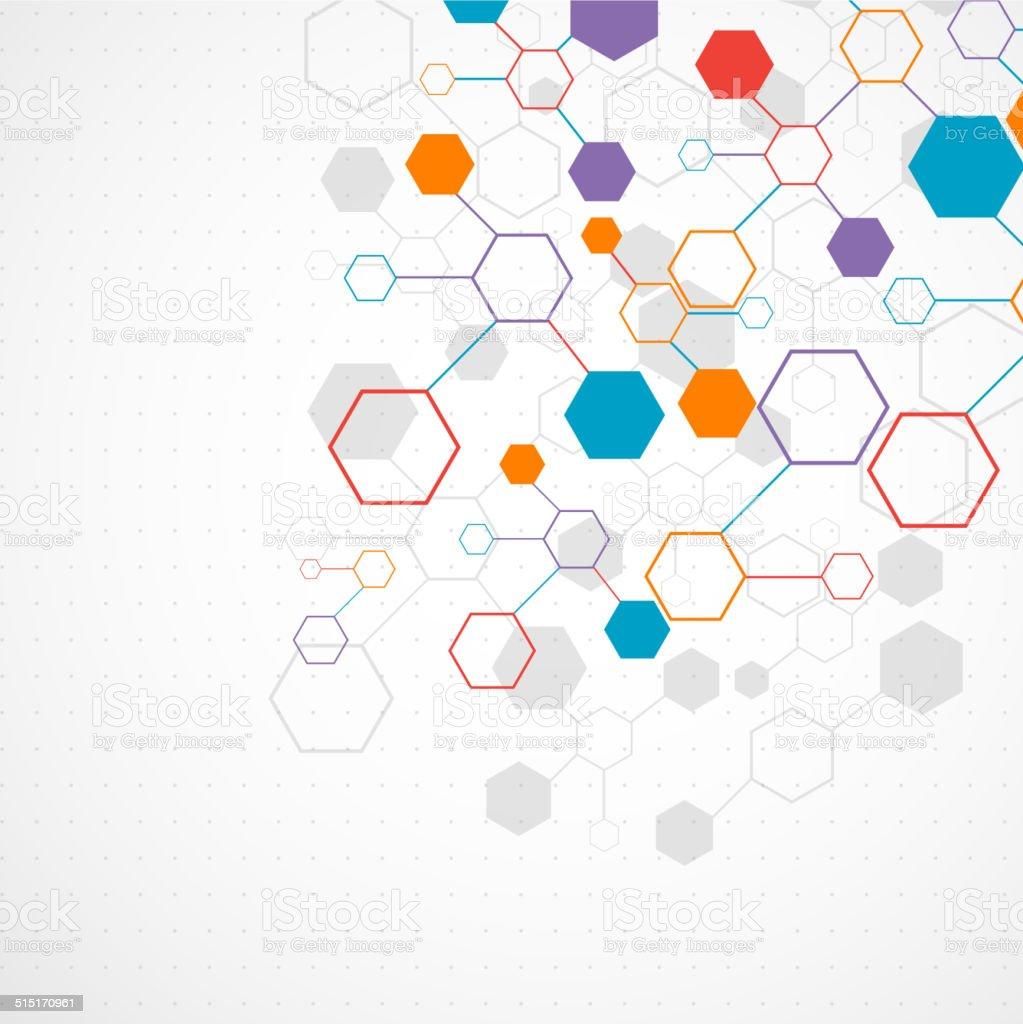 技術の通信ネットワークの背景色 - つながりのベクターアート素材や画像